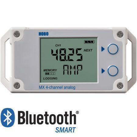HOBO MX1105 4-Kanal Bluetoth Smart Logger für externe Sensoren, 1,9 Mio. Messwerte